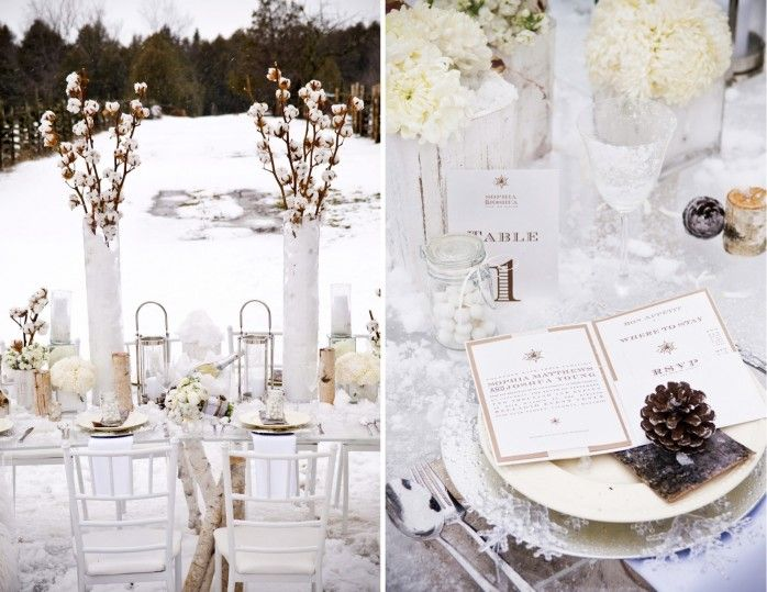Gorgeous winter wedding decorations with preserved cotton stalks gorgeous winter wedding decorations with preserved cotton stalks junglespirit Images