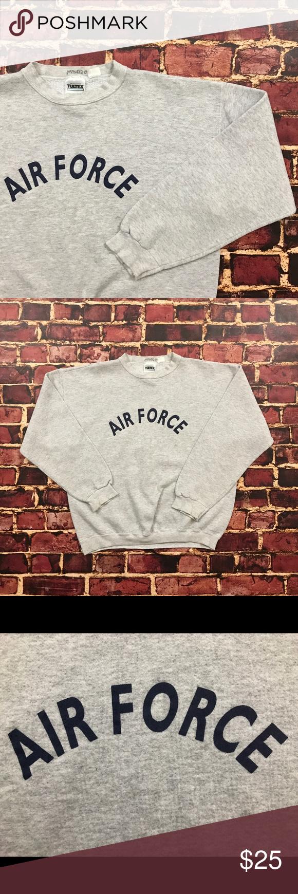 Vintage Air Force Sweatshirt Usaf Crewneck Gray Vintage Air Force Sweatshirt Pullover Crewneck Mens Large Air Force Sweatshirt Pullover Sweatshirts Sweatshirts [ 1740 x 580 Pixel ]