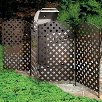Great Keep Your Outdoor Life Private, And Ugly A/C Units Or Trash Cans Out Of  View, When You Put Up A Metal Privacy Screen.