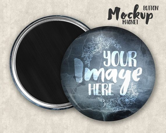 Magnet Button Mockup Template With Front And Back View Etsy Mockup Template Magnets Photoshop Elements