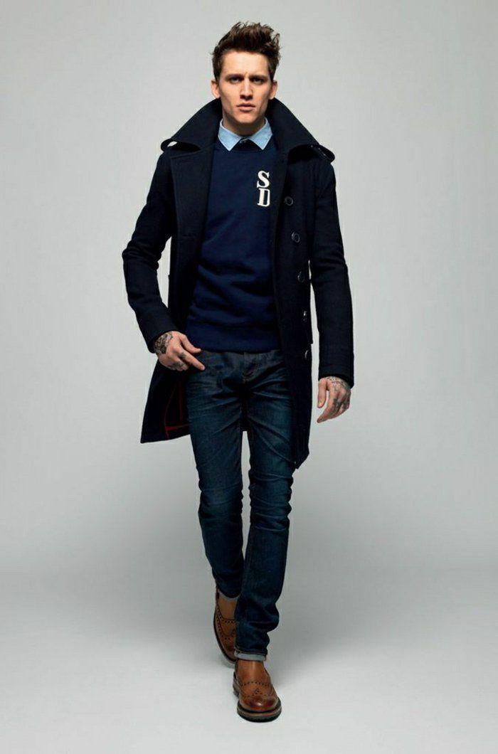 professionnel de premier plan lisse sélection premium comment avoir une vision elegant avec le manteau homme celio ...