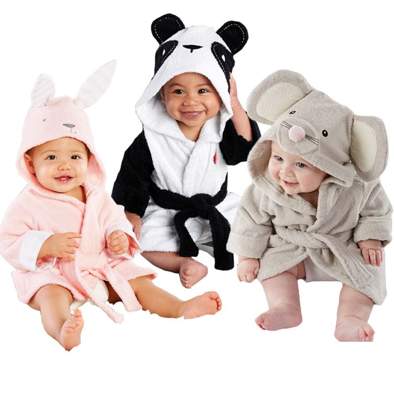 905d71db26 Cool free shipping 2016 children s clothing boys girls Robes cartoon baby  bathrobe Sleepwear Robe Pink rabbit bear panda -  25.05 - Buy it Now!