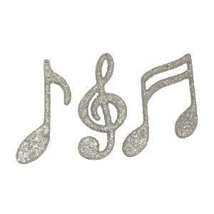 Glitter Music Note – 4″