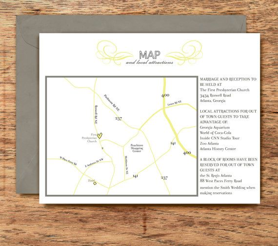 Wedding Invitation Map And Directions Card Chic Cly Fresh Christine Collection Diy Printable