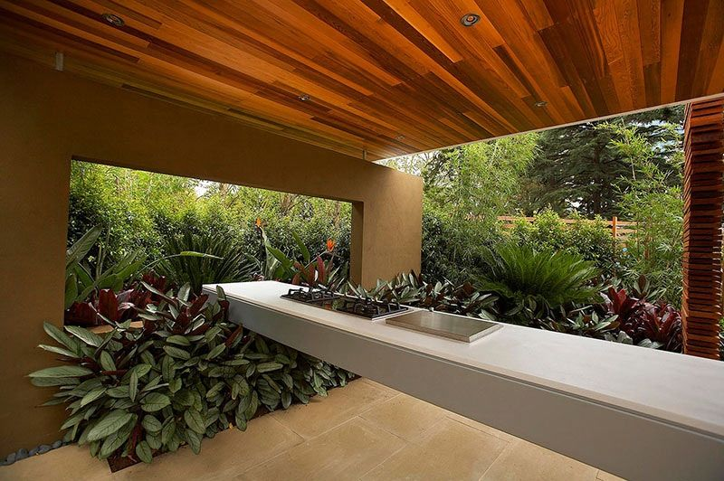 Modern Landscape Design Ideas From Rolling Stone Landscapes Delectable Garden Kitchen Design Design Decoration