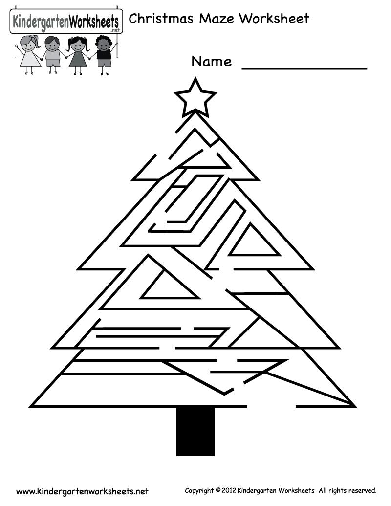 Free Printable Holiday Worksheets | Kindergarten Christmas ...