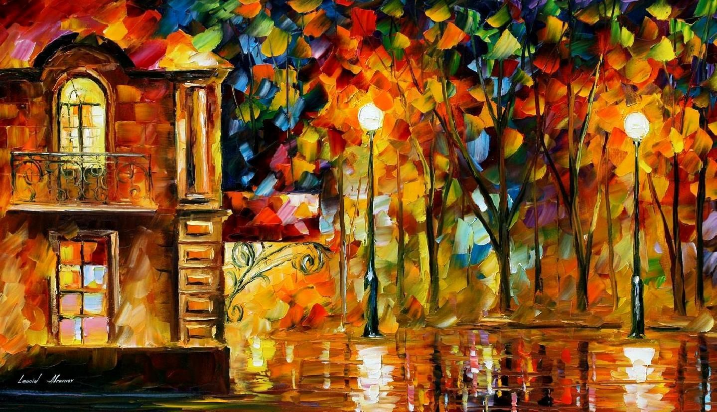 Reflections Of Memory Palette Knife Oil Painting On Canvas By
