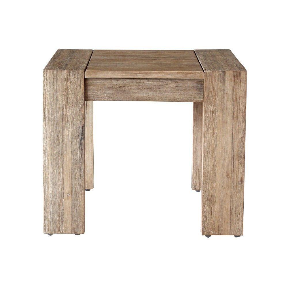 Montpelier Wood Patio Side Table Smith Hawken Muebles De Balcón Madera