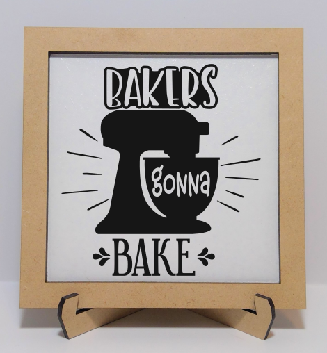 Bakers gonna Bake Sign (Engraved) - Natural (No Color)