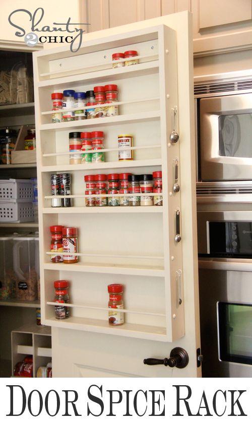 Pantry Ideas Diy Door Spice Rack Kitchen Organization Diy Door Spice Rack Diy Pantry