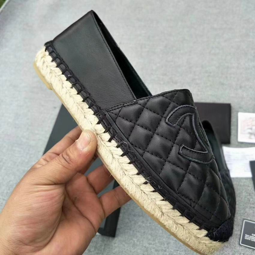 f0b841b2a Chanel Espadrilles Quilted Lambskin Cc Shoes Black | Chanel Shoes in ...