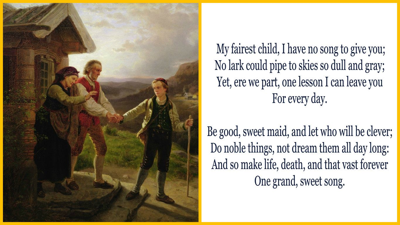Short poems for year 8 love poems for wife array a farewell by charles kingsley kingsley u0027s short poem instructs us rh pinterest ca fandeluxe Choice Image