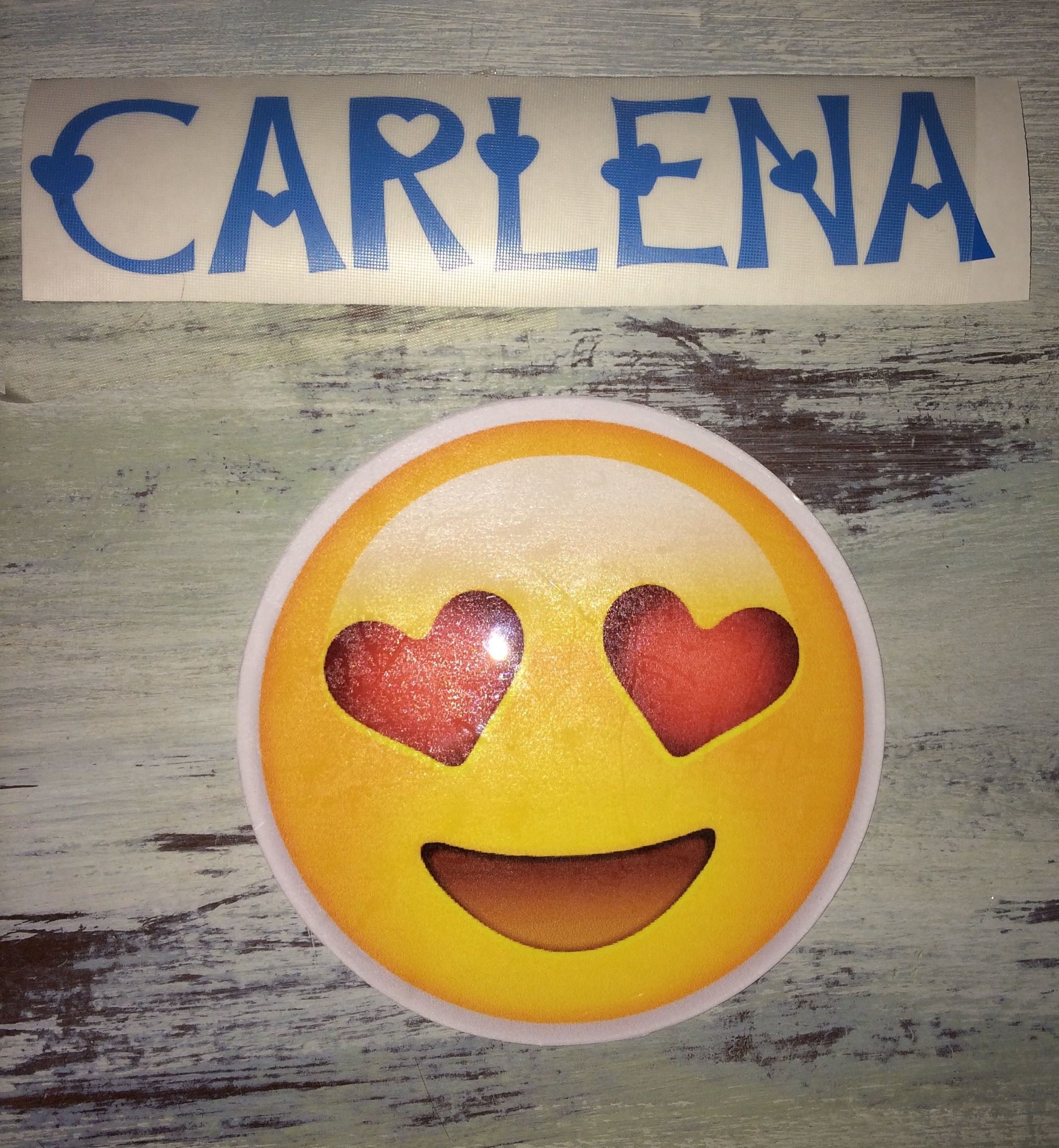Custom Name And Emoji Decals Made With Cricut Explore Air Cricut Explore Air Emoji Cricut Explore