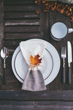 Tisch Decken Herbstlich Tischgedeck Serviette Mit Herbst