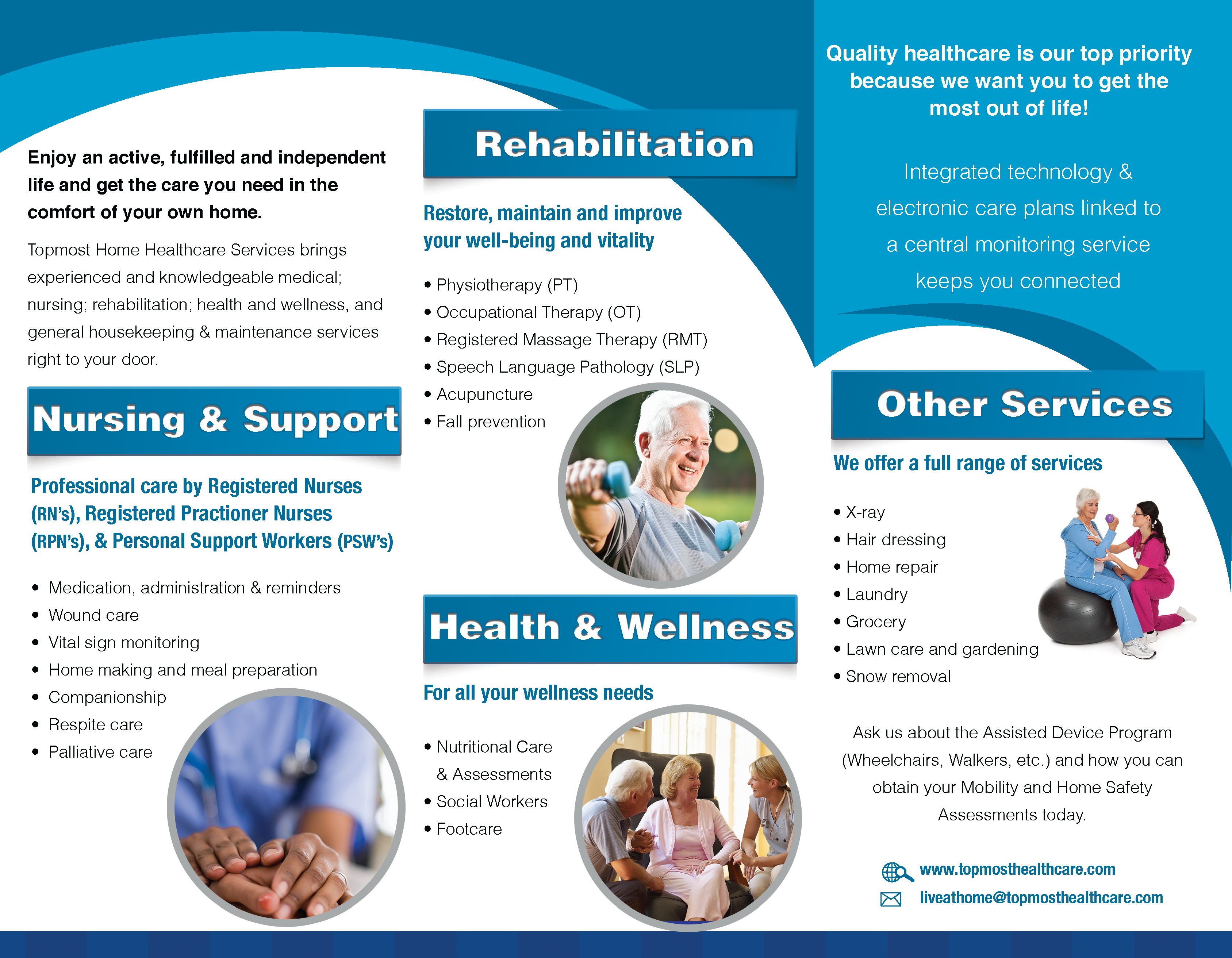 Our client, Topmost Home Healthcare Services asked us to