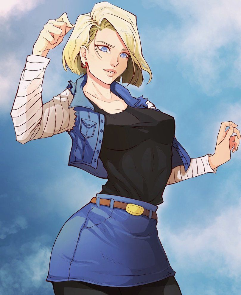 Dbz Ecchi Girls Wallpaper For Android Android 18 Android 18 Dragonball Z Dragon Ball Z