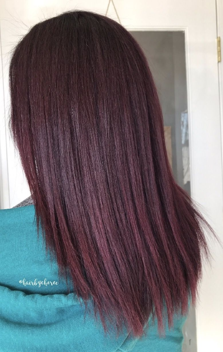 Red Violet Merlot Hair Color Using Joico Vero K Pak Color 1oz 4rv