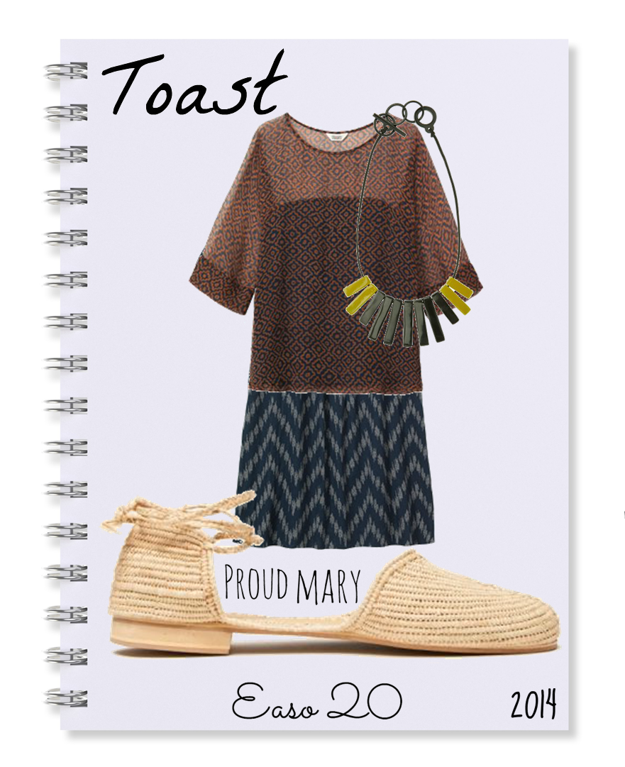 My notebook: Dress, blouse, necklace By Toast + Sandals By Proud Mary. http://wp.me/p32pZe-18H