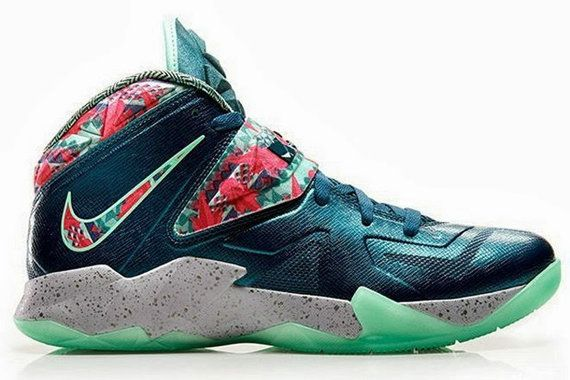 more photos 156a8 b9796 Free Shipping Only 69  Nike LeBron Soldier 7 The Power Couple Dark Sea Pink  Flash Green Glow Wolf Grey 599264 300