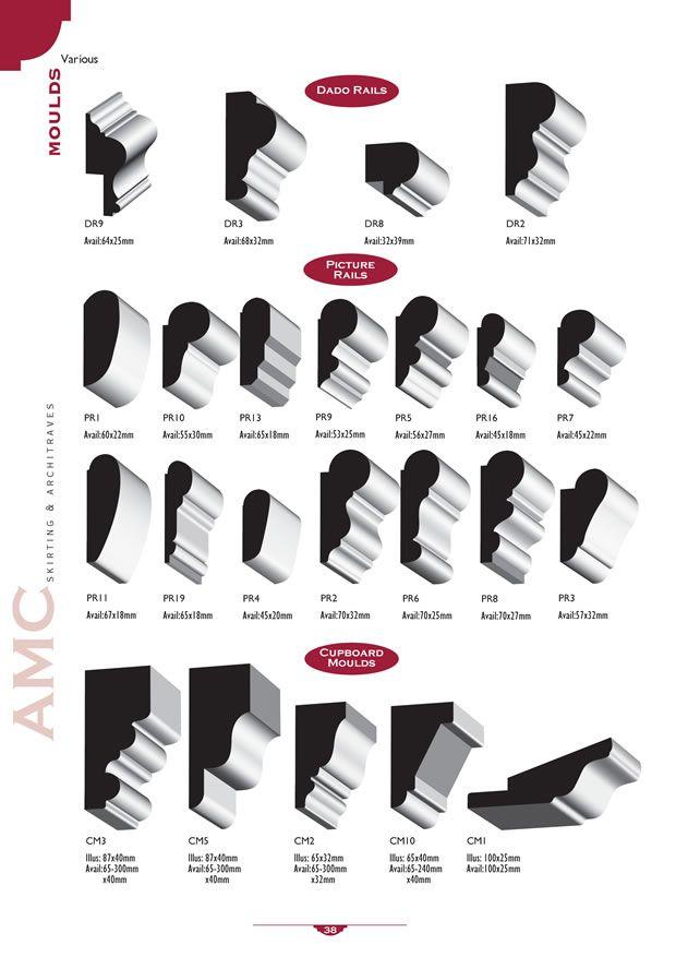 Accessory Mouldings, Picture Rails, Bolection Moulds, Dado ...