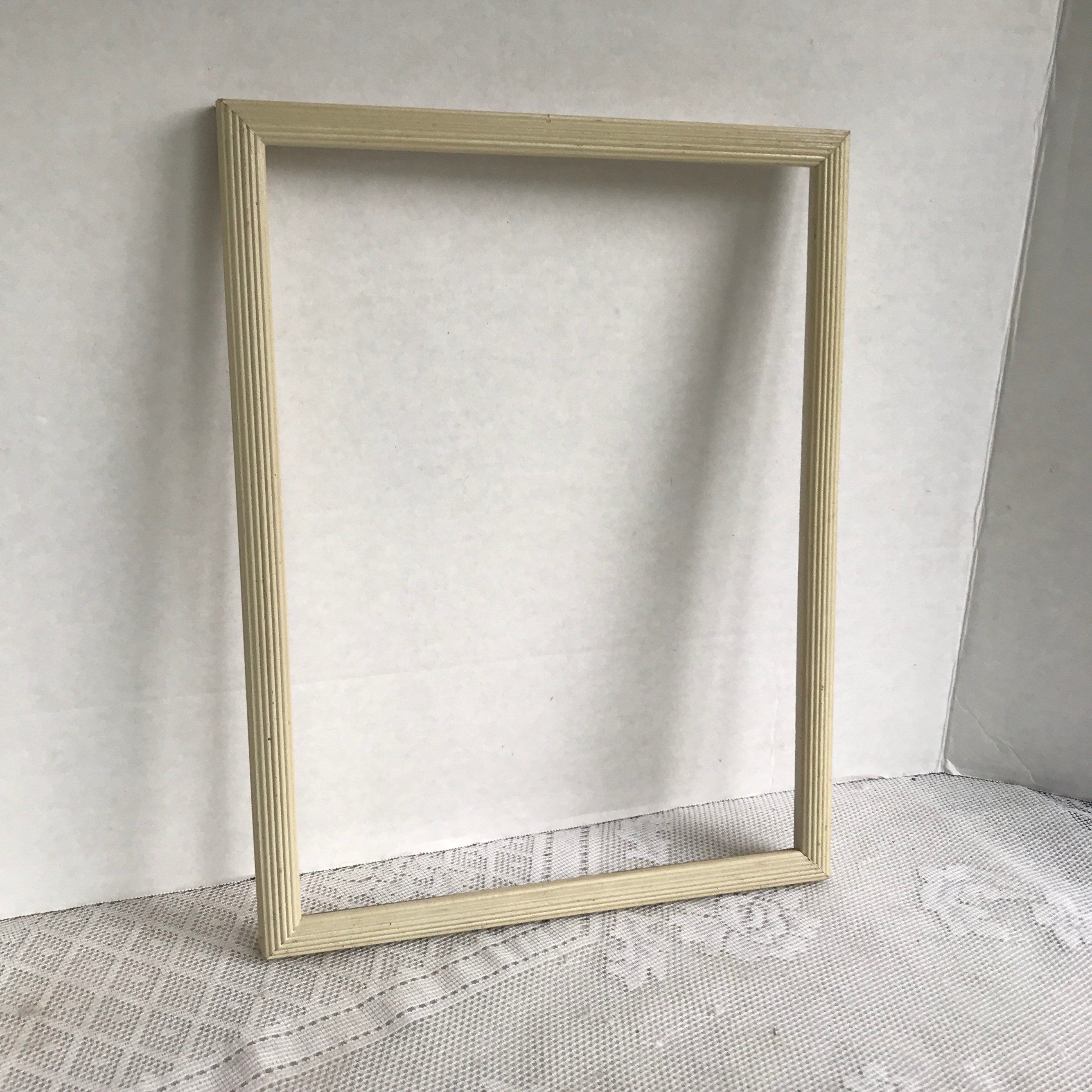 Vintage White Wooden Picture Frame 9 X 12 Inch Wood Frame Wooden Picture Frames Picture Frames Wood Frame