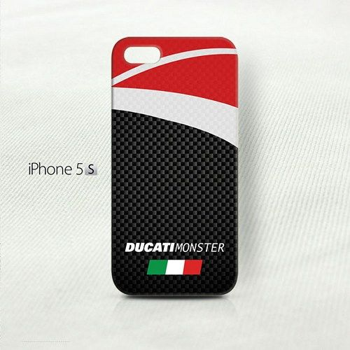 Ducati Monster Carbon Fiber Pattern  iPhone 5 5S (3D) Cover Case