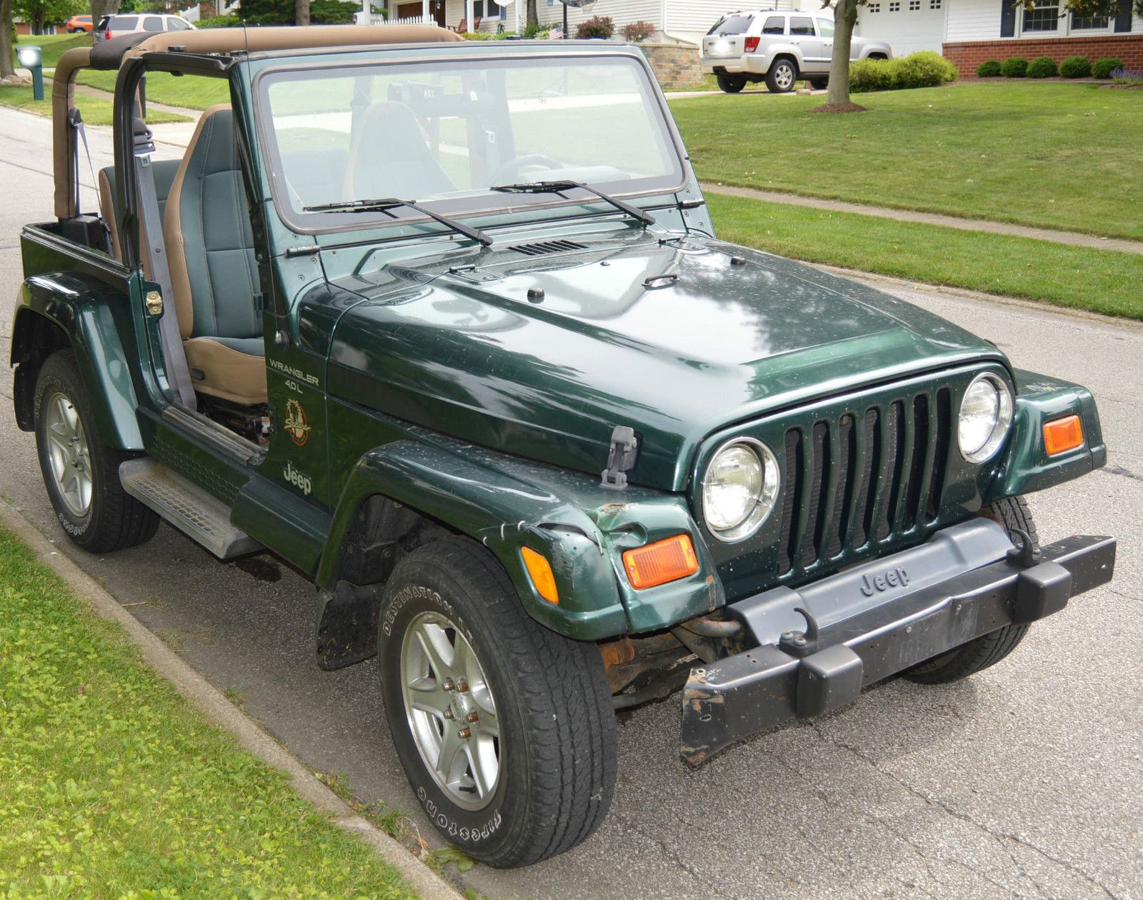 Car Brand Auctioned Jeep Wrangler Sahara 2001 Car Model Jeep