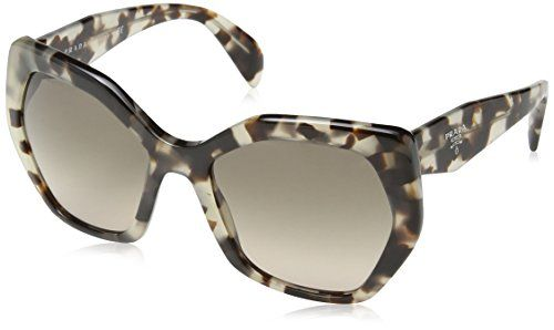8eda5487c88 Prada Women s PR 16RS Spotted Opal Brown Light Brown Gradient Sunglasses