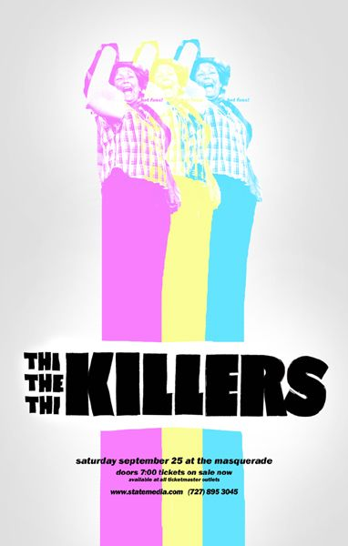 The Killers Gig Poster Concert Posters Graphic Design Posters