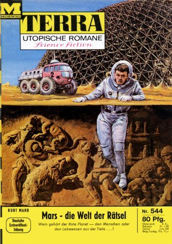 Terra SF 544 Mars - die Welt der R�tsel   Kurt Mahr  Titelbild 1. Auflage:  Karl Stephan