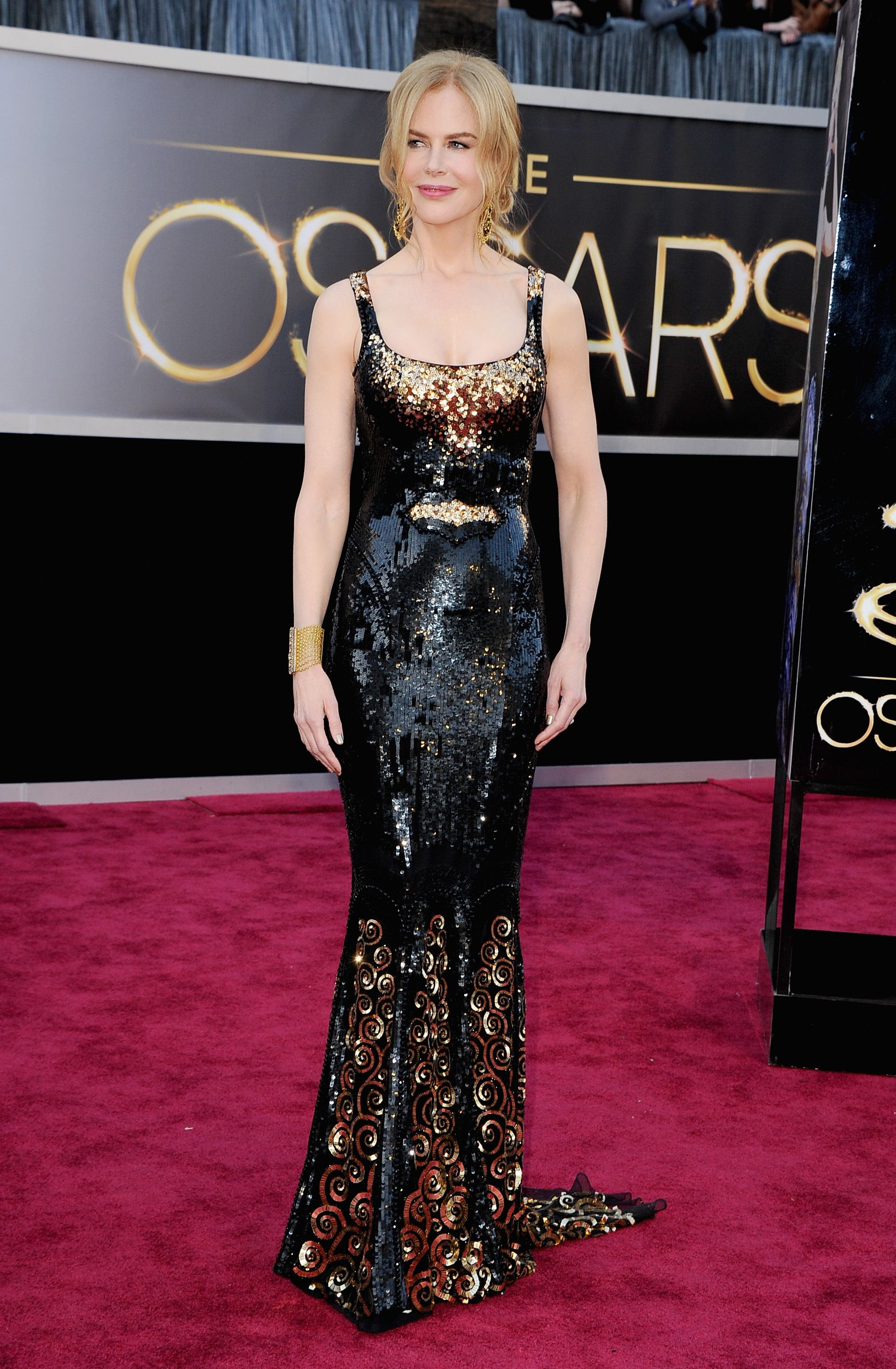 Nicole Kidman Sparkles in Black and