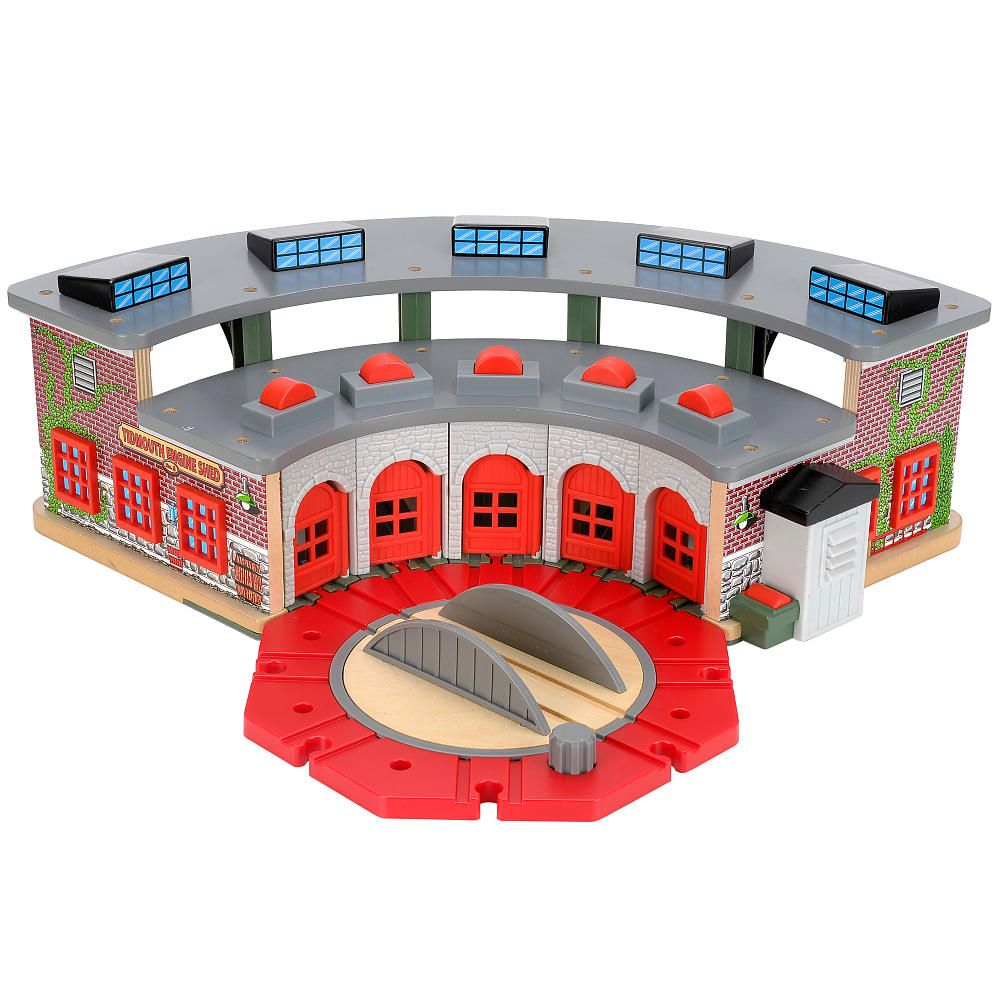 Thomas & Friends Wooden Railway Set - Deluxe Roundhouse | Holiday ...