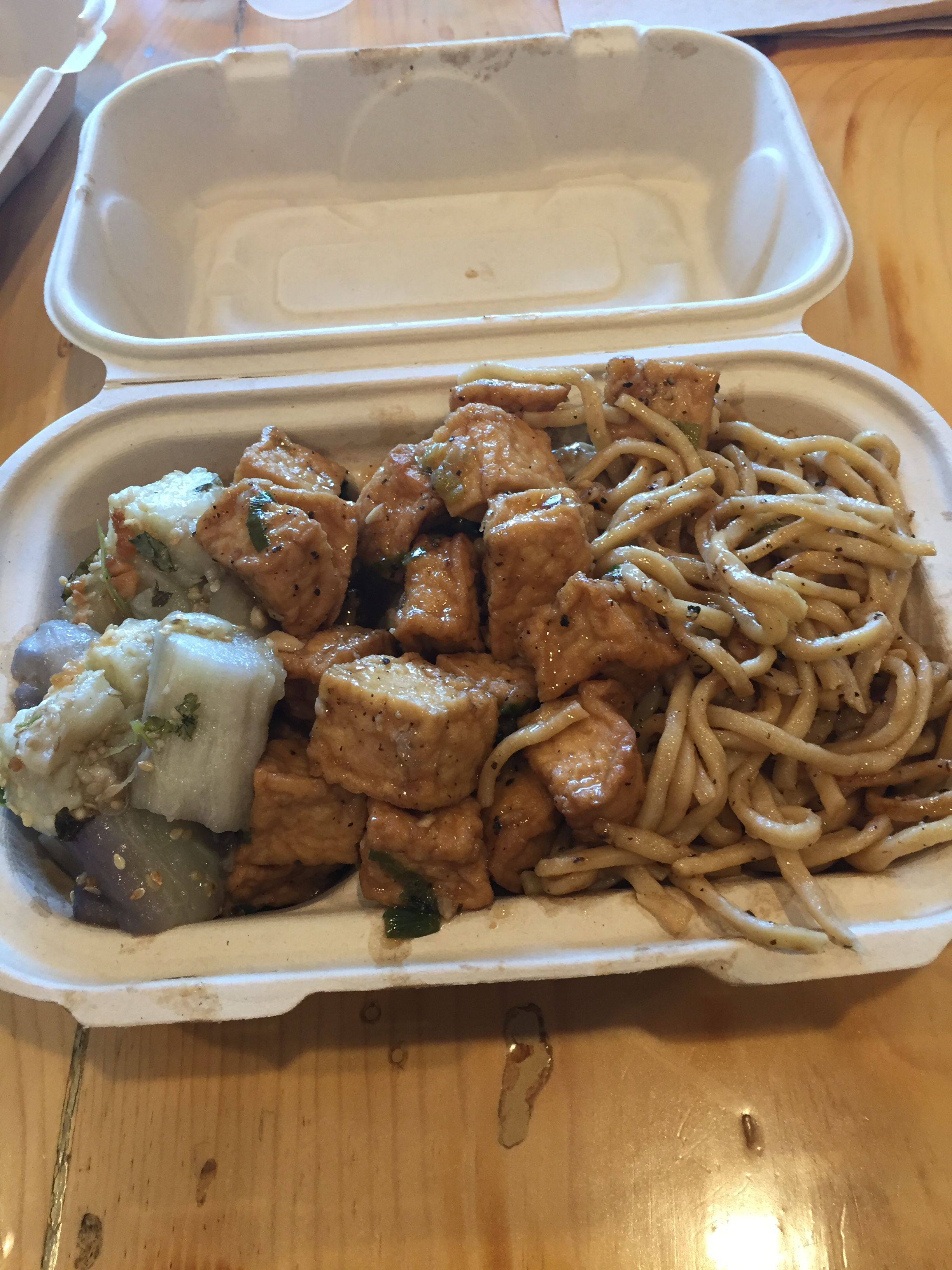 Blurr Kitchen 3 Times This Week Garlic Noodles Tofu And