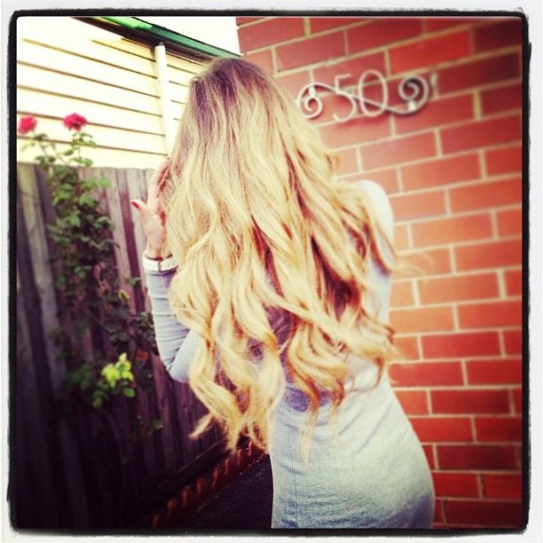 Long Hair Blonde Hair Curled Hair Hair Extensions. Just Beautiful! www.zalacliphairextensions.com.au