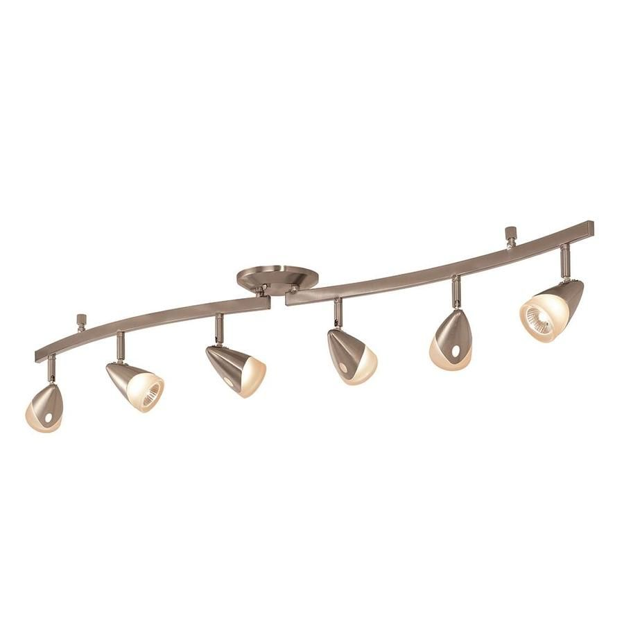 Portfolio Aria 6-Light 45.2-in Brushed Steel Dimmable Fixed Track ...