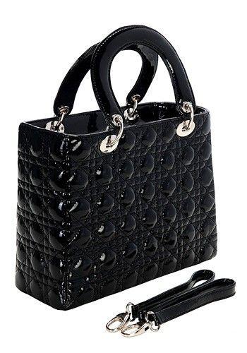 Lady Grace Leather Bag Black