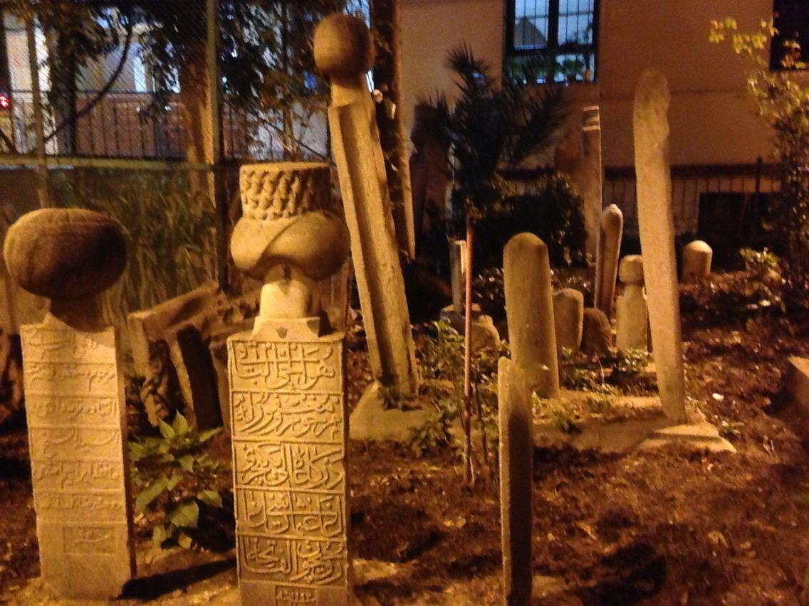 Night shots of a grave stones - Bursa
