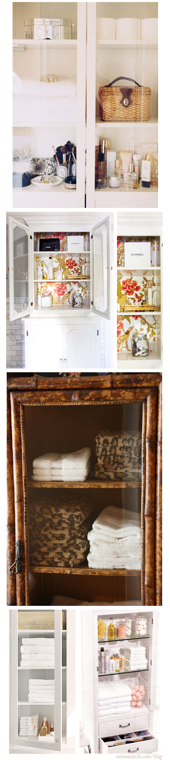 glass-front-bathroom-cabinets-Arianna-Belle-Blog   Glass ...