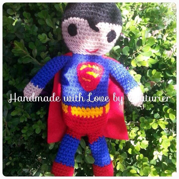 Superman Amigurumi Doll Muneco Tejido A Mano Crochet Doll Crochet Superman Doll Superman Handmade Doll Superman Amigurumi Doll Dolls Handmade Crochet Doll