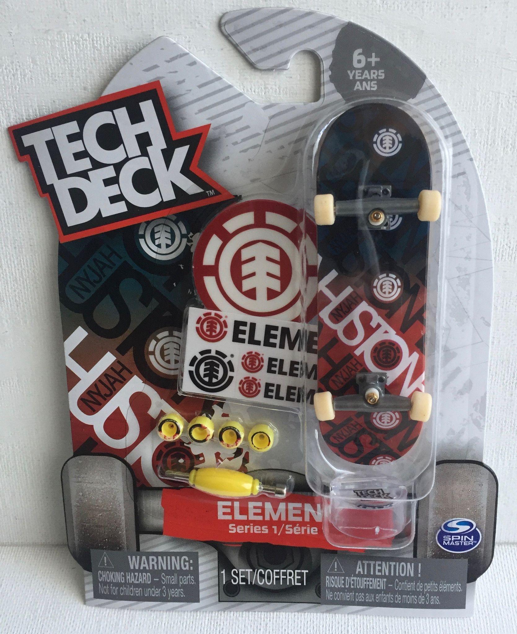 Tech Deck Element Skateboards Nyjah Huston Series 1 Fingerboard