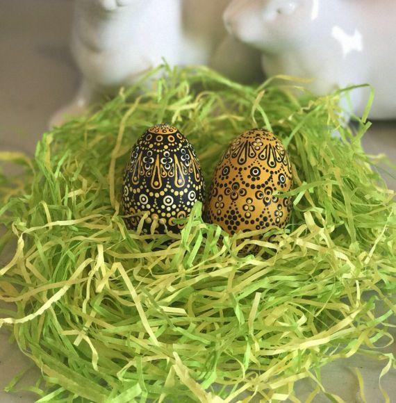 Hand painted easter egg dot art wooden easter eggs easter gift hand painted easter egg dot art wooden easter eggs easter gift gift negle Gallery