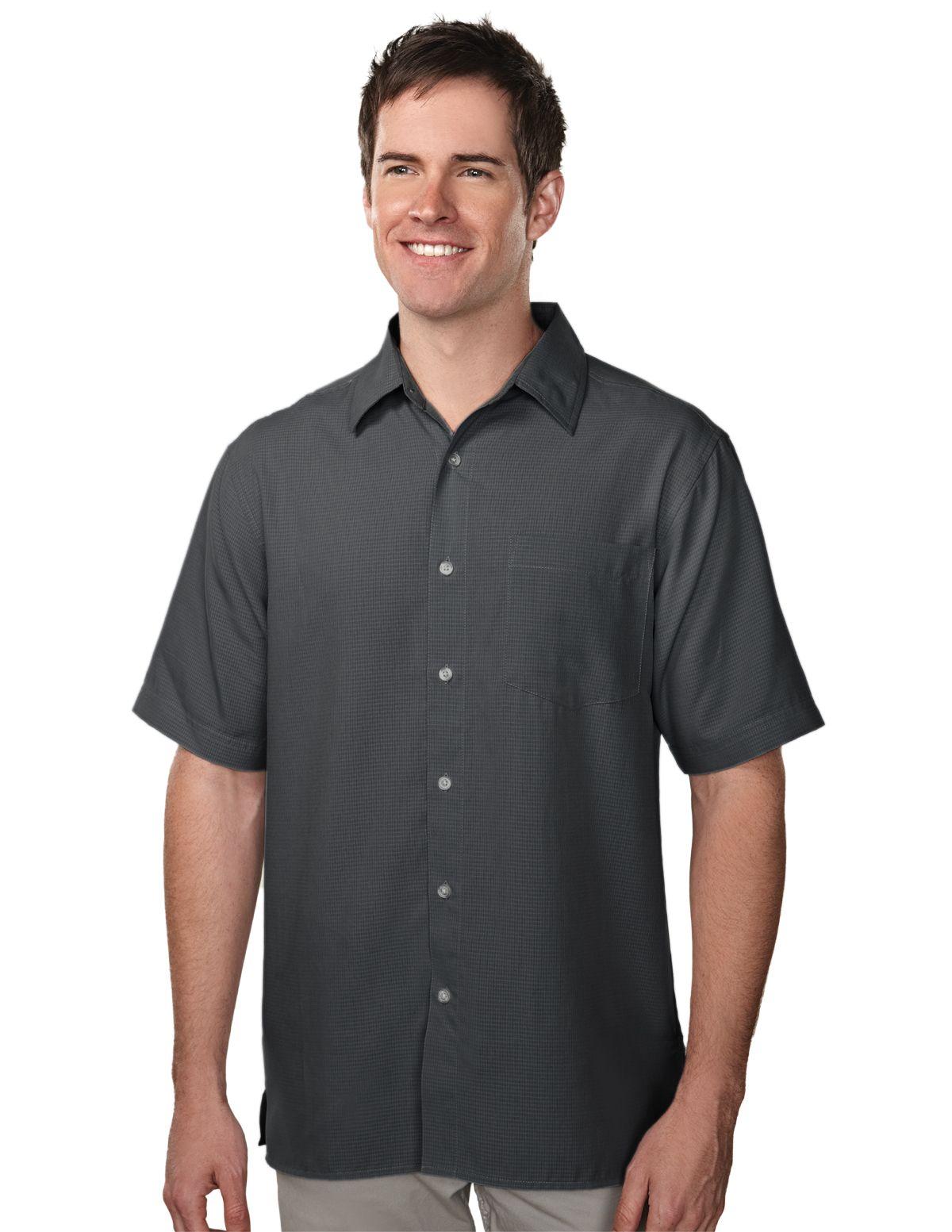 Tri-Mountain Men/'s Button Down Collar Short Sleeve Shooting Dress Shirt 786