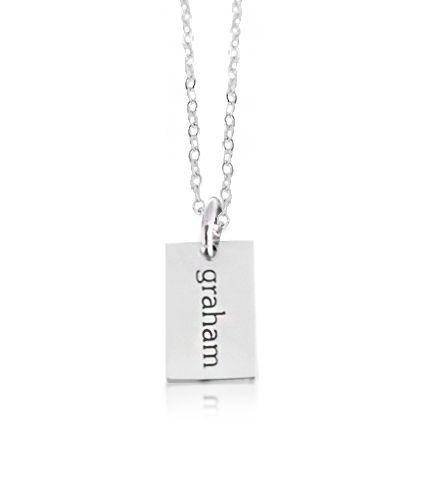 Engraved sterling silver necklace features 1 mini dog tag mommy engraved sterling silver necklace features 1 mini dog tag mommy pendant personalize this tag charm aloadofball Image collections