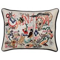 CANADA HAND-EMBROIDERED PILLOW