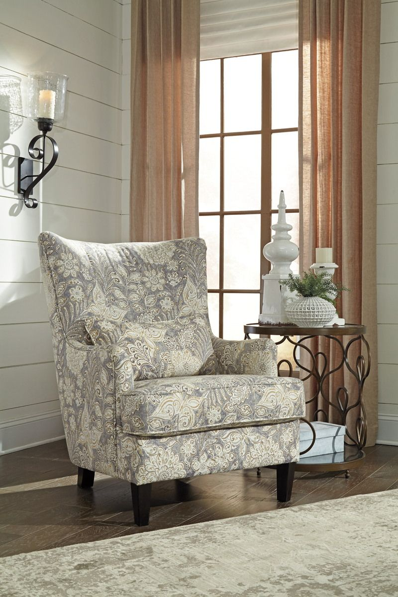 Avelynne accent chair in ocean 8130221