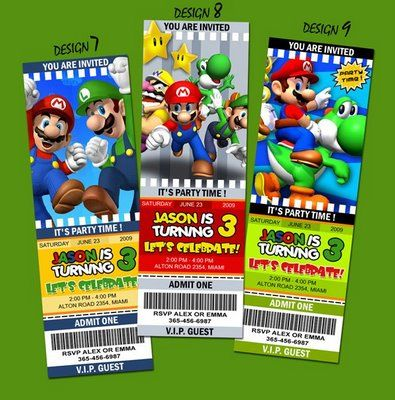 invites Parties Pinterest Super mario bros Mario bros and Success