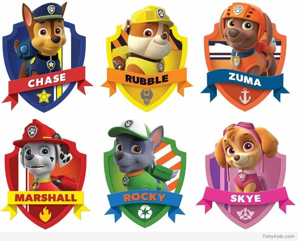 graphic about Paw Patrol Printable Pictures named paw patrol people printables Occasion Paw patrol