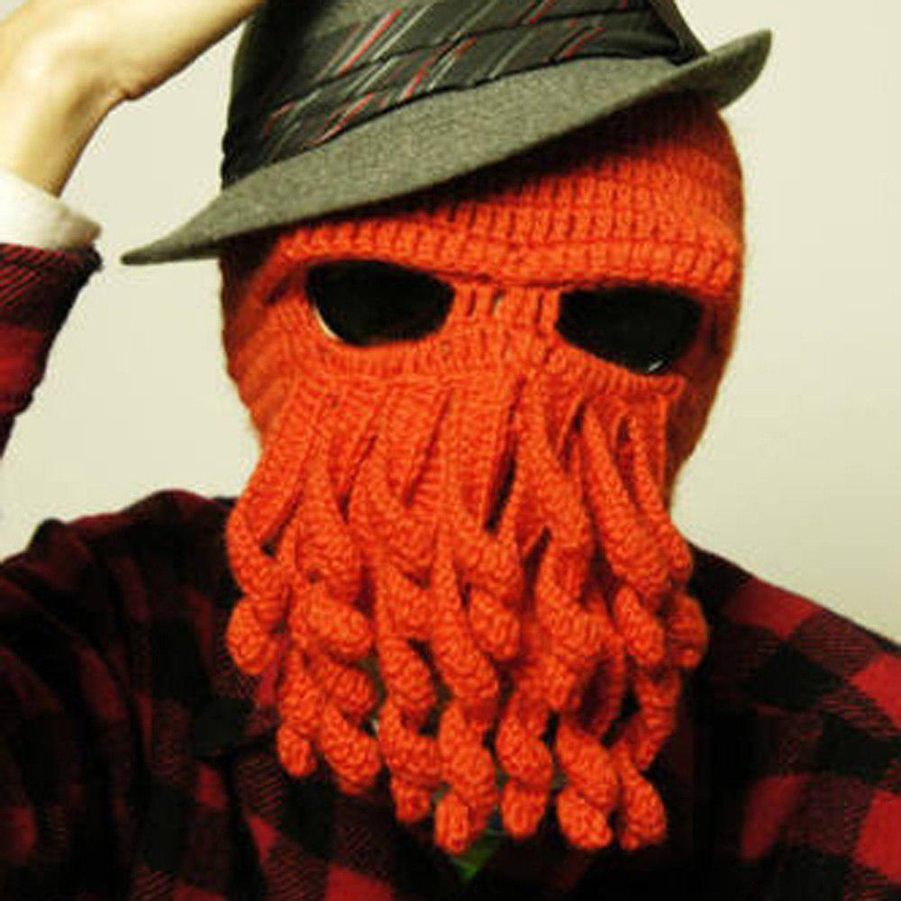 71cfe5d6 Unisex Squid Cap Women Men Winter Warm Knit Crochet Beard Beanie ...