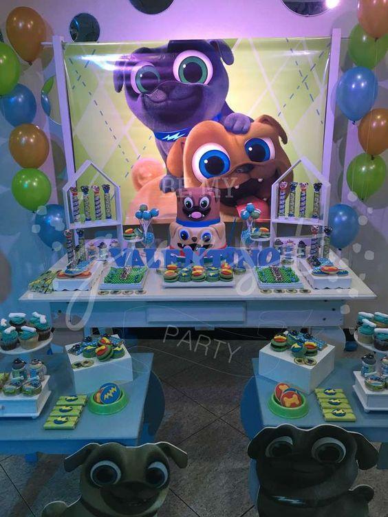 Valentino S Puppy Dog Pals Birthday Party Catchmyparty Com Puppy Birthday Parties Dog Birthday Party Puppy Birthday