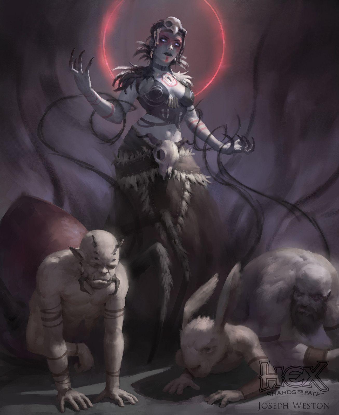 Mistress of Bones, Joseph Weston on ArtStation at https://www.artstation.com/artwork/VaYNP
